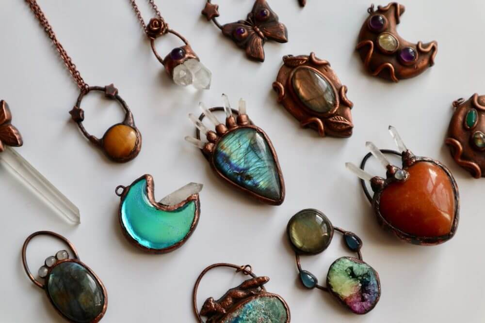 copper electroformed jewelry