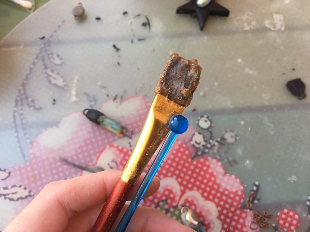 paintbrush ruined by liquid latex