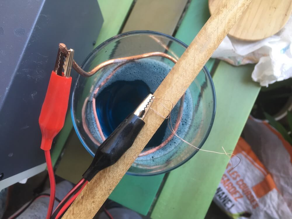 wire attachment copper electroforming bath