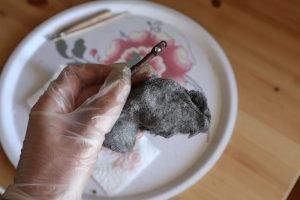 polishing with steel wool