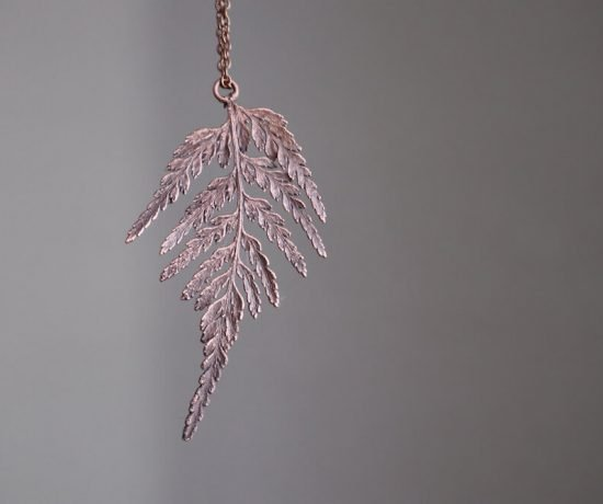 copper electroformed fern leaf