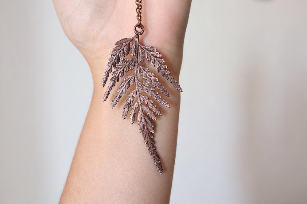 copper electroformed leaf