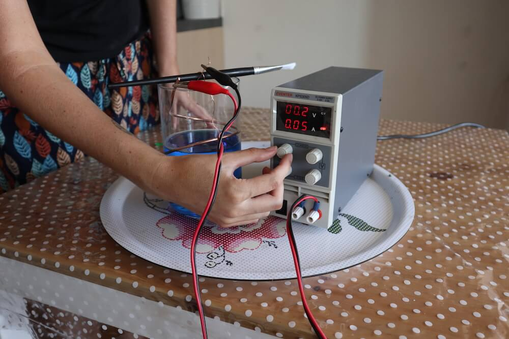 turn on power supply electroforming tutorial