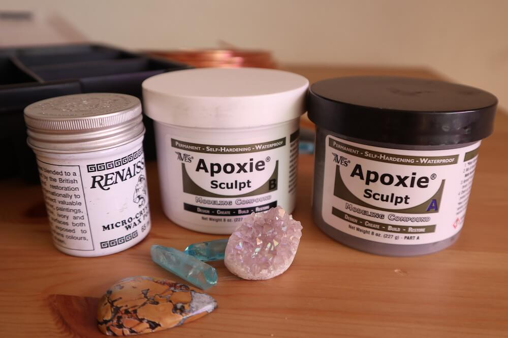 apoxie, wax and crystals
