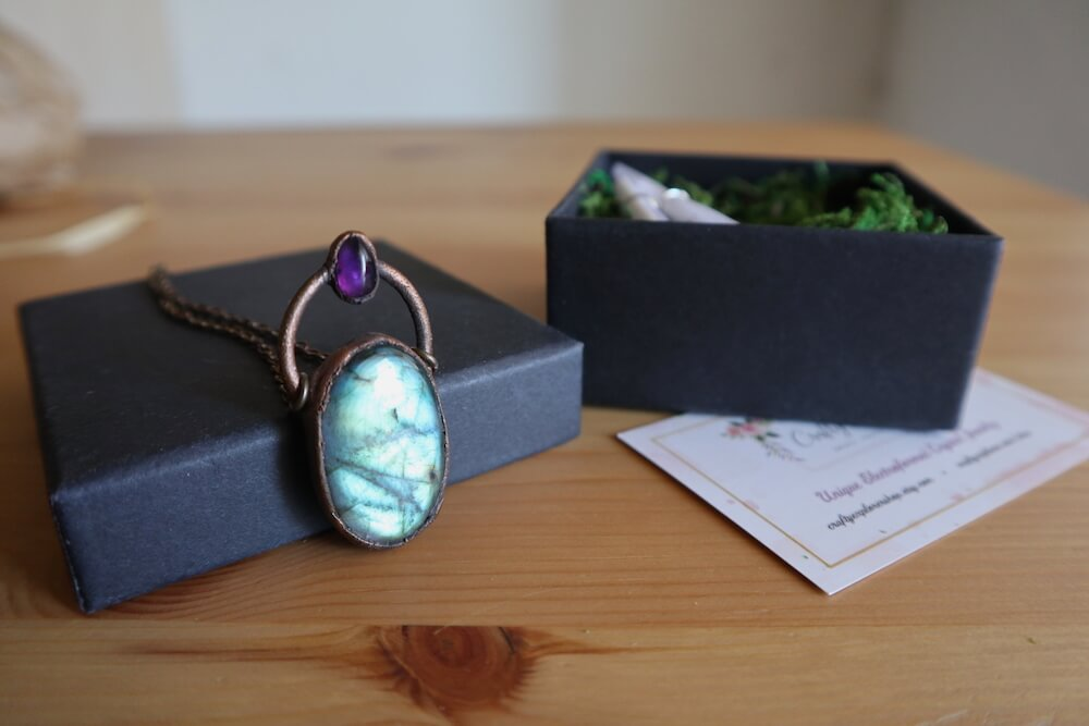 how to package electroformed jewelry