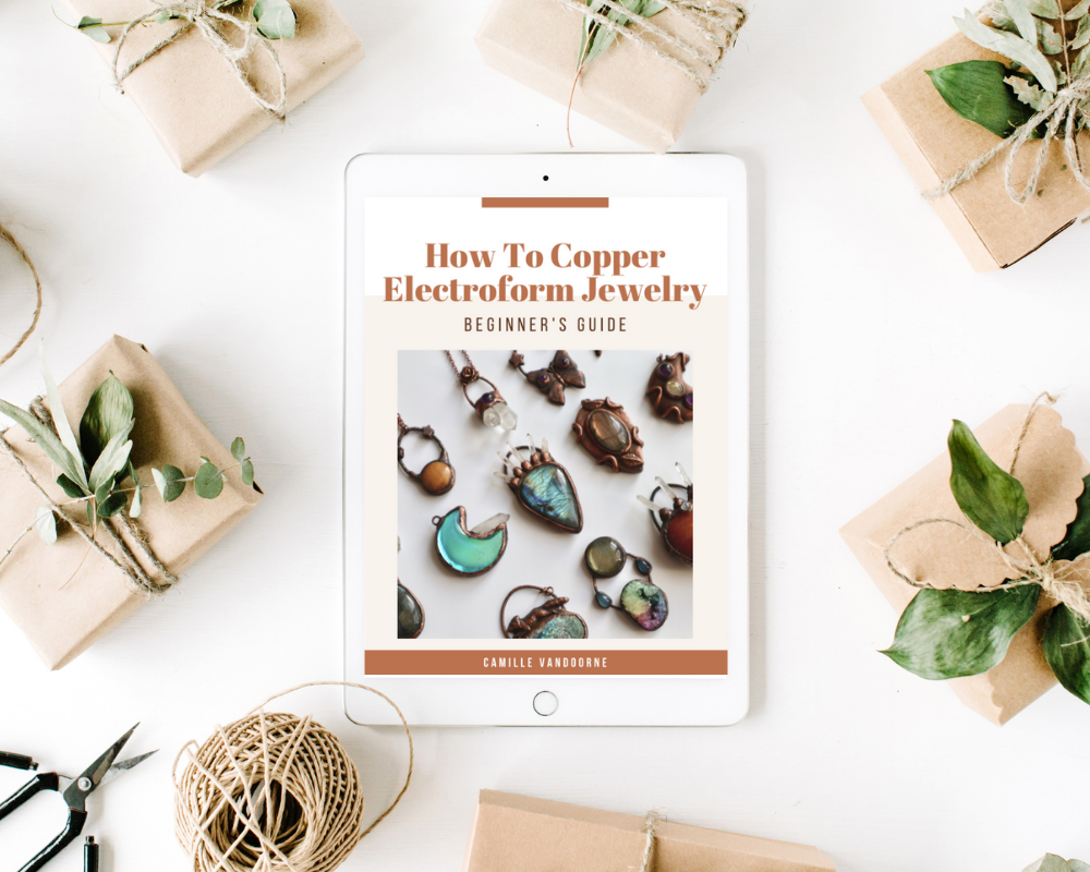 how to copper electroform jewelry ebook