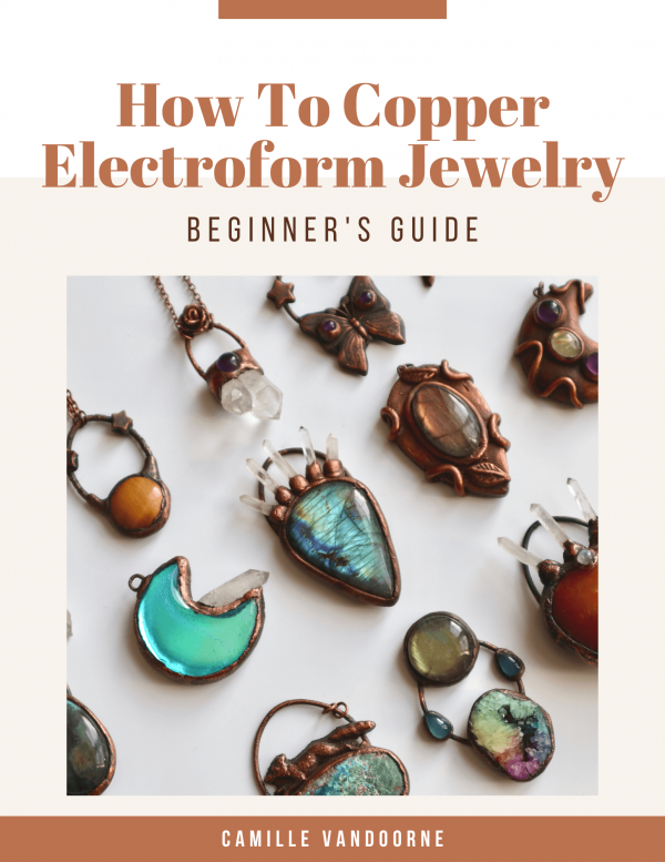 how to copper electroform jewelry ebook cover