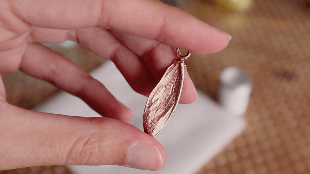 Electroformed cicada wing pendant tutorial